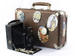 Retro camera suitcase — Stock Photo