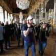 PARIS. Visitors on queue for Versailles palace April, — Stockfoto