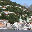 BERGEN, NORWAY - CIRCA JULY 2012: Tourists and locals — Stock Photo