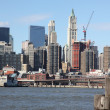 NYC, view to Manhattan — Stockfoto