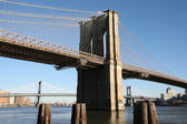 Brooklyn bridge, view to Brooklyn from Manhattan — Foto de Stock
