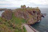 данноттар замок, шотландия, великобритания — Стоковое фото