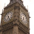 Clock of Big Ben, London gothic architecture, UK — Stock Photo
