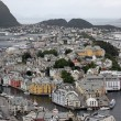 Alesund - is know as the Art Deco city of Norway — Stock Photo