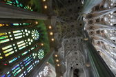 La Sagrada Familia, the unrealistic cathedral designed by Gaud — Stock Photo