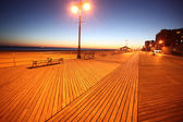 Evening in Brighton Beach of Coney Island, New York, USA — Stock fotografie