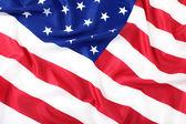 Closeup of American flag — Stock Photo