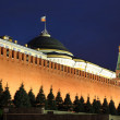 Kremlin wall, Senate and Senate tower in Red Square — Stock Photo