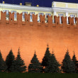 Stock Photo: Kremlin wall and Senate in Red Square, Moscow, Russia