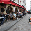 Постер, плакат: View of typical paris cafe