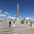 Statues in Vigeland park in Oslo, Norway — Stock Photo #32843395