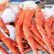 Stock Photo: Fresh crab legs at seafood market