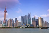 Shanghai Pudong skyline view from the Bund — Stock Photo