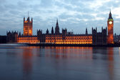 Big Ben and Houses of Parliament at evening, London, UK — Foto Stock