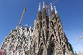 La Sagrada Familia - the impressive cathedral designed by Gaudi — Stock Photo