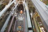 La Sagrada Familia, the unrealistic cathedral designed by Gaudi — Stock Photo
