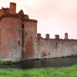 caerlaverock castle — Stock Photo