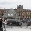 PARIS - APRIL 27: People go to famous Louvre museum on April 27, — Stock Photo