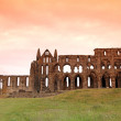 Whitby Abbey castle, ruined Benedictine abbey — Stock Photo