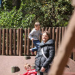 PARIS - APRIL 29: Local and Tourist in the famous Disneyland Paris — Lizenzfreies Foto