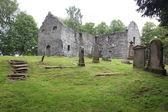 Viejo cementerio gótico en el castillo de blair — Foto de Stock