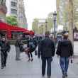 Stock Photo: Local and tourisrs on Avenue des Champs-elysees
