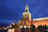 Spassky, Tsarskaya and Nabatnaya Towers of Moscow Kremlin at Re — Stock Photo