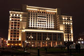 Night View of the eastern facade of the old Hotel Moskva — Stock Photo