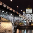 Night View of Moskva river — Stock Photo