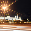 Moscow Kremlin Palace with Churches in the summer view through n — Stock Photo