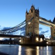 Famous and Beautiful Evening View of Tower Bridge, London, UK — Stock Photo