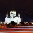 Night View Cathedral of Jesus Christ the Saviour in the summer v — Stock Photo