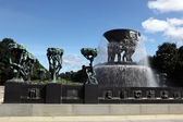Rzeźby w parku Vigelanda w oslo — Zdjęcie stockowe