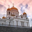 Sunset at Cathedral of Jesus Christ the Saviour — Stock Photo