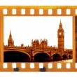 Vintage frame photo film with Big Ben — Stock Photo