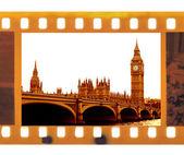 Rama fotografia film z big bena — Zdjęcie stockowe