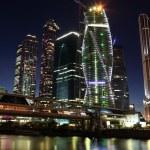 Skyscrapers City international business centre — Stock Photo #34531975