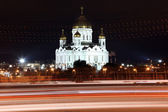 Night View Cathedral of Jesus Christ the Saviour — Stock Photo