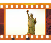 Vintage frame photo film with Statue of Liberty — Stock Photo