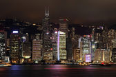 Hong kong in der nacht — Stockfoto