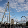 Pedestrian bridge in London — Stock Photo