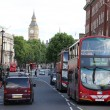 Stock Photo: Red Bus in street of London