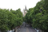 Boulevard in London with view on Big Ben — Stock Photo