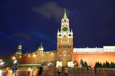 Spassky, Tsarskaya and Nabatnaya Towers of Moscow Kremlin — 图库照片