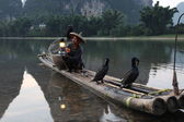 Chinese man fishing — Foto Stock
