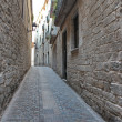 Stock Photo: Street in the medieval quarter of Girona, Spain
