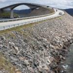 Storseisundet Bridge on the Atlantic Road in Norway — Stock Photo