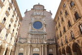 Facade of the basilica at the Benedictine Abbey at Montserrat — Stock Photo