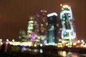 City blurred night light, Abstract xmas lights — Stock fotografie