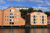 Old Storehouses in Trondheim — Stock Photo